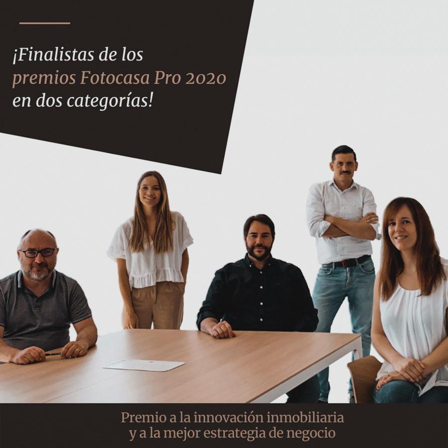 El equipo de DDC - Gestión Inmobiliaria agradece su nominación a los Premios Fotocasa Pro